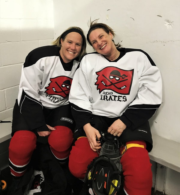 Two Pirates sitting in the locker room